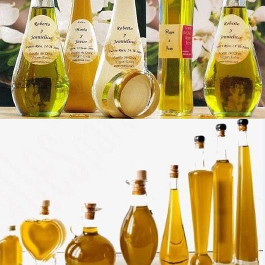 botellas aceite bodas